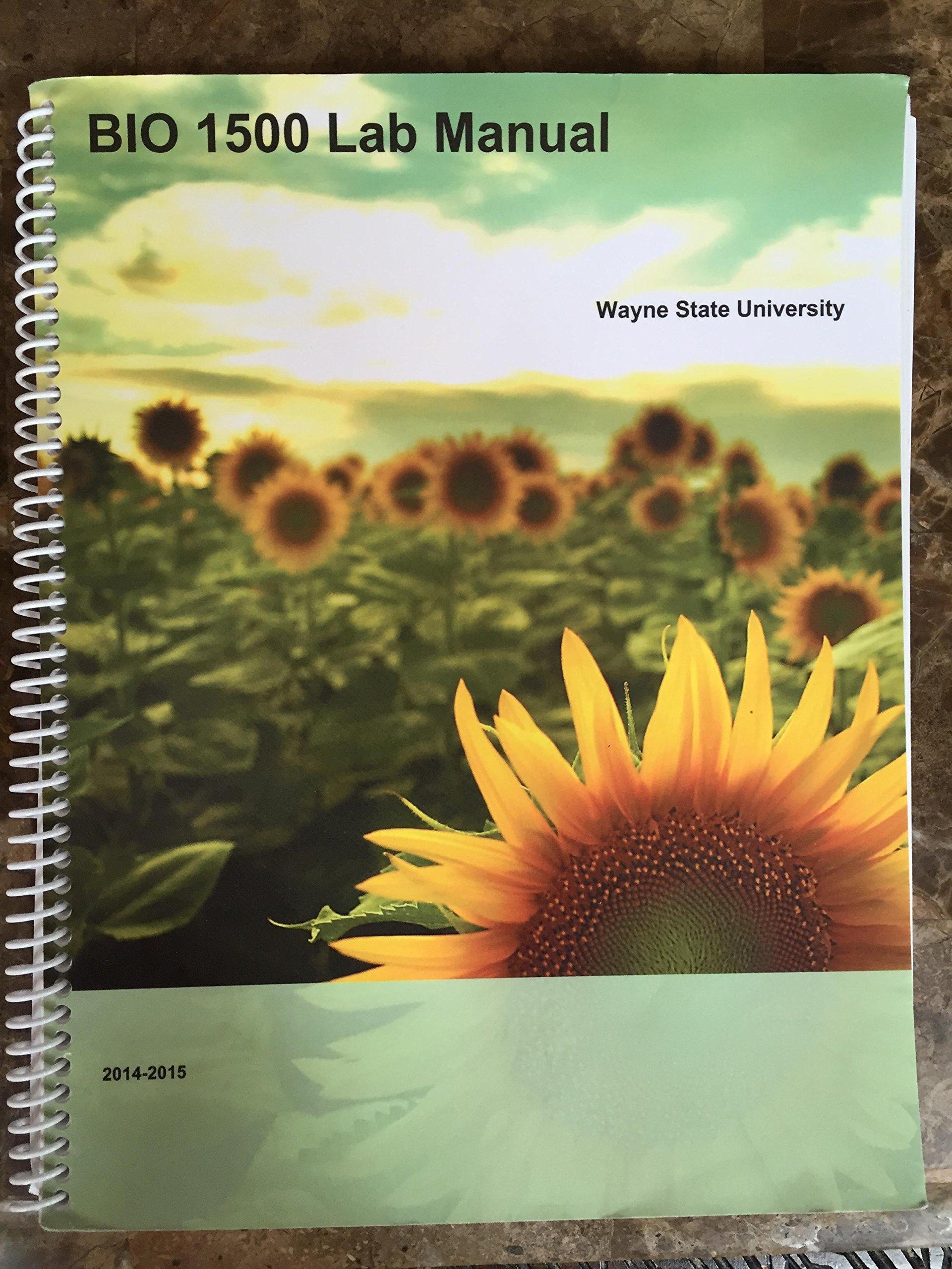 BIO 1500 Lab Manual, Wayne State University, 2014-2015: Amazon.com: Books