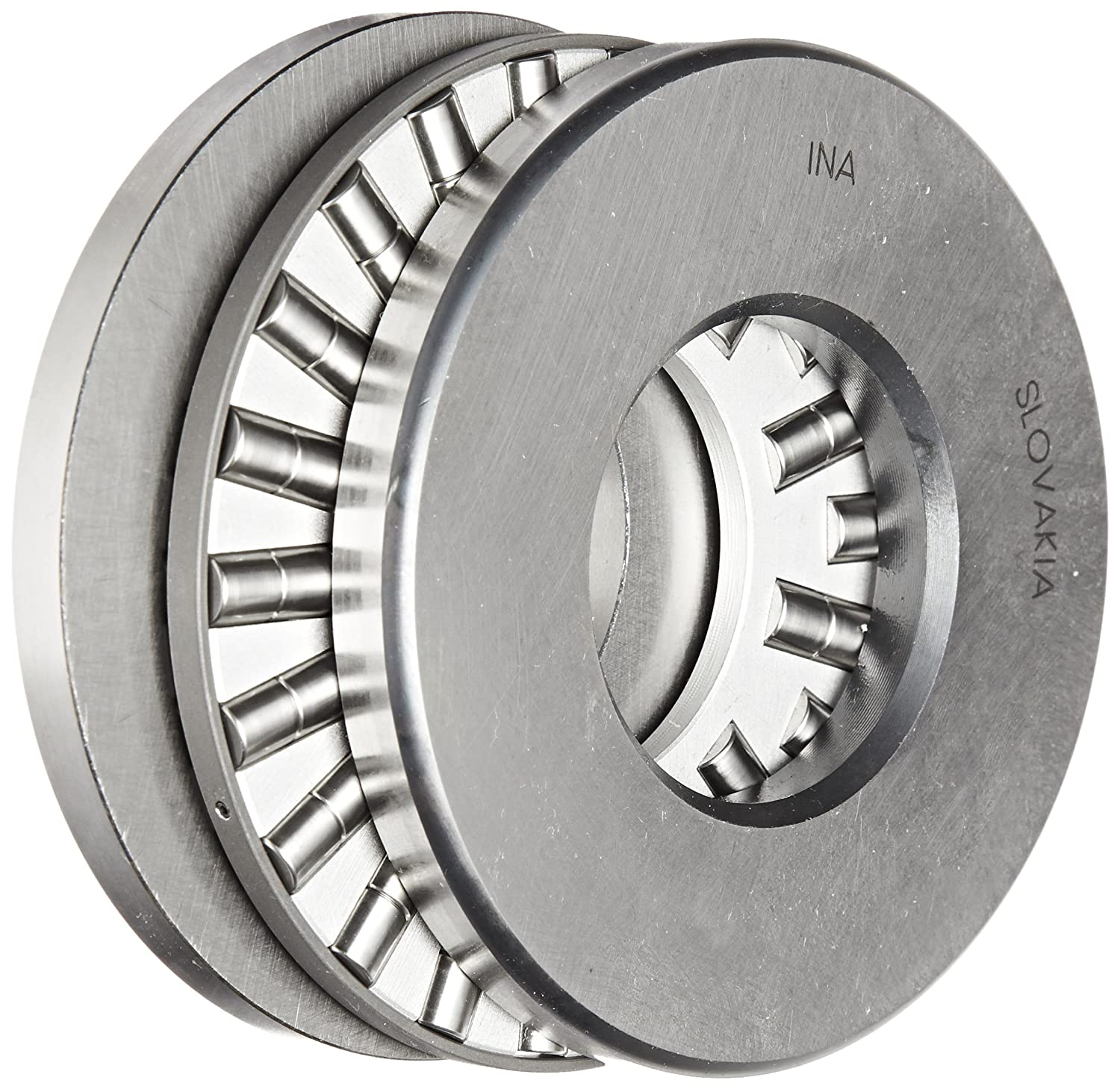 INA 87408 Cylindrical Roller Thrust Bearing, Thick Flat Race, Standard Cage, Open End, Metric, 40mm ID, 90mm OD, 23mm Width, 4400rpm Maximum Rotational ...