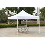 American Phoenix 10x10 10x15 10x20 [White Frame] Portable Event Canopy Tent, Canopy Tent, Party Tent Gazebo Canopy Commercial Fair Shelter Car Shelter Wedding Party Easy Pop Up (White, 10x10)