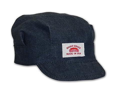 Amazon.com  Round House Train Conductor Denim Engineer Hat - Child ... b4f3b4d713dd