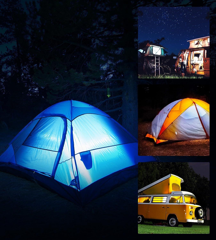 Linternas de Luz LED Regulable para Acampar de Astorn Luces Colgantes de Exterior de Baterias Bombillas de Luz LED Colgantes para Acampar y Campismo Paquete de 2 Piezas Luces para Acampar