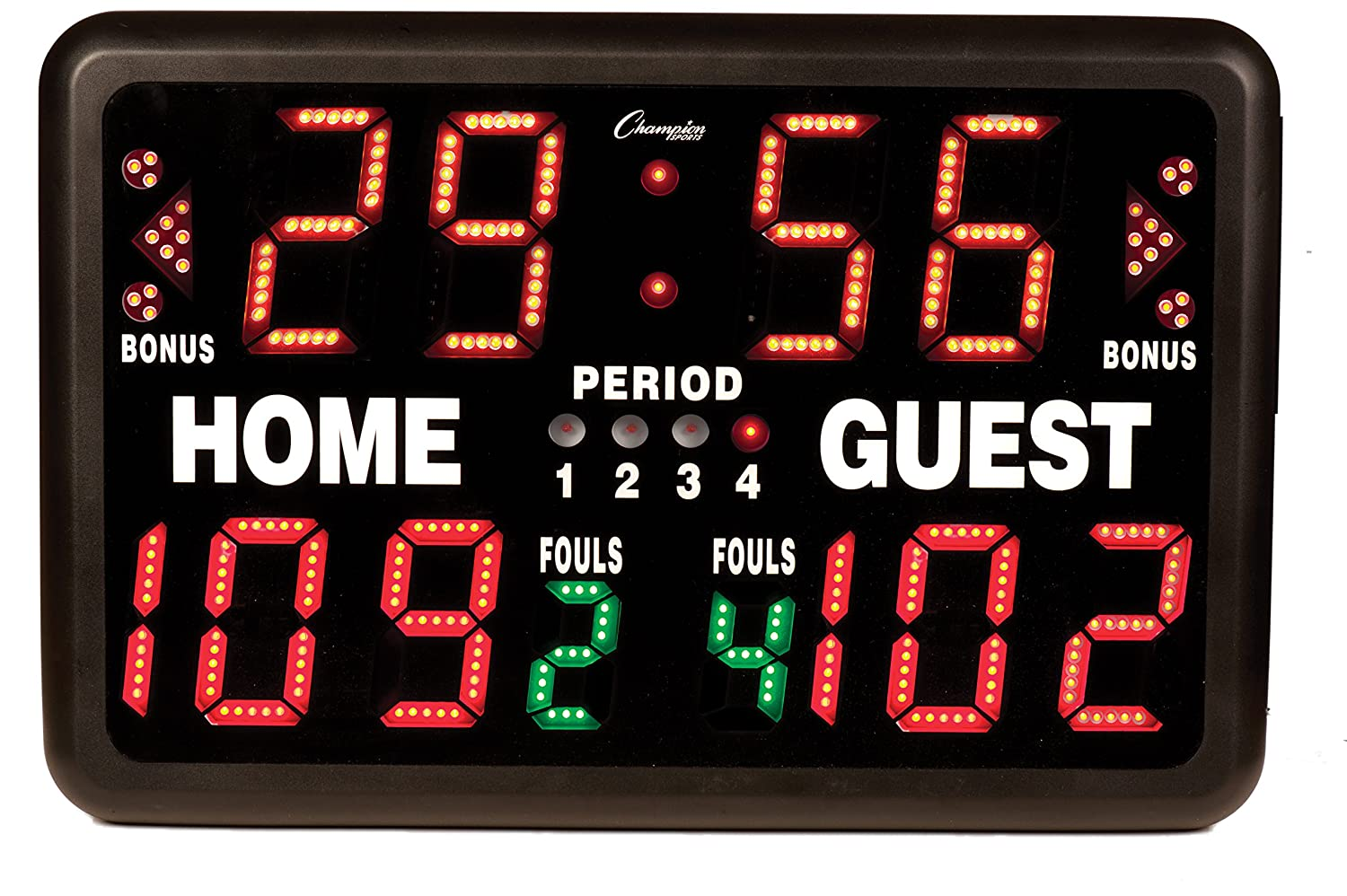 Champion Sports MultiSport Tabletop Indoor Electronic Scoreboard with Remote Control Included