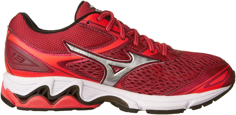Mizuno Women's Wave Inspire 13 Running Shoe B01H3EFR1W 7 B(M) US|Barbados Cherry/Black
