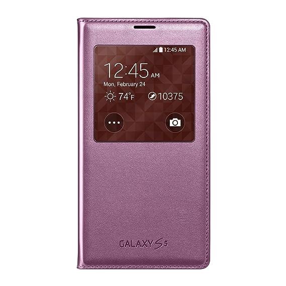 promo code db791 e69a7 Samsung Galaxy S5 Case S View Flip Cover Folio, Pink