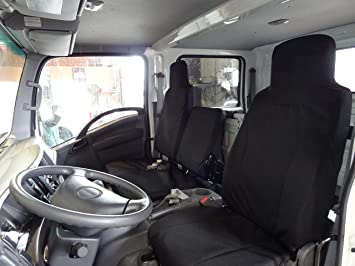 Tailored Waterproof Front Black Seat Covers NO TRAY Ford TRANSIT Van 2014