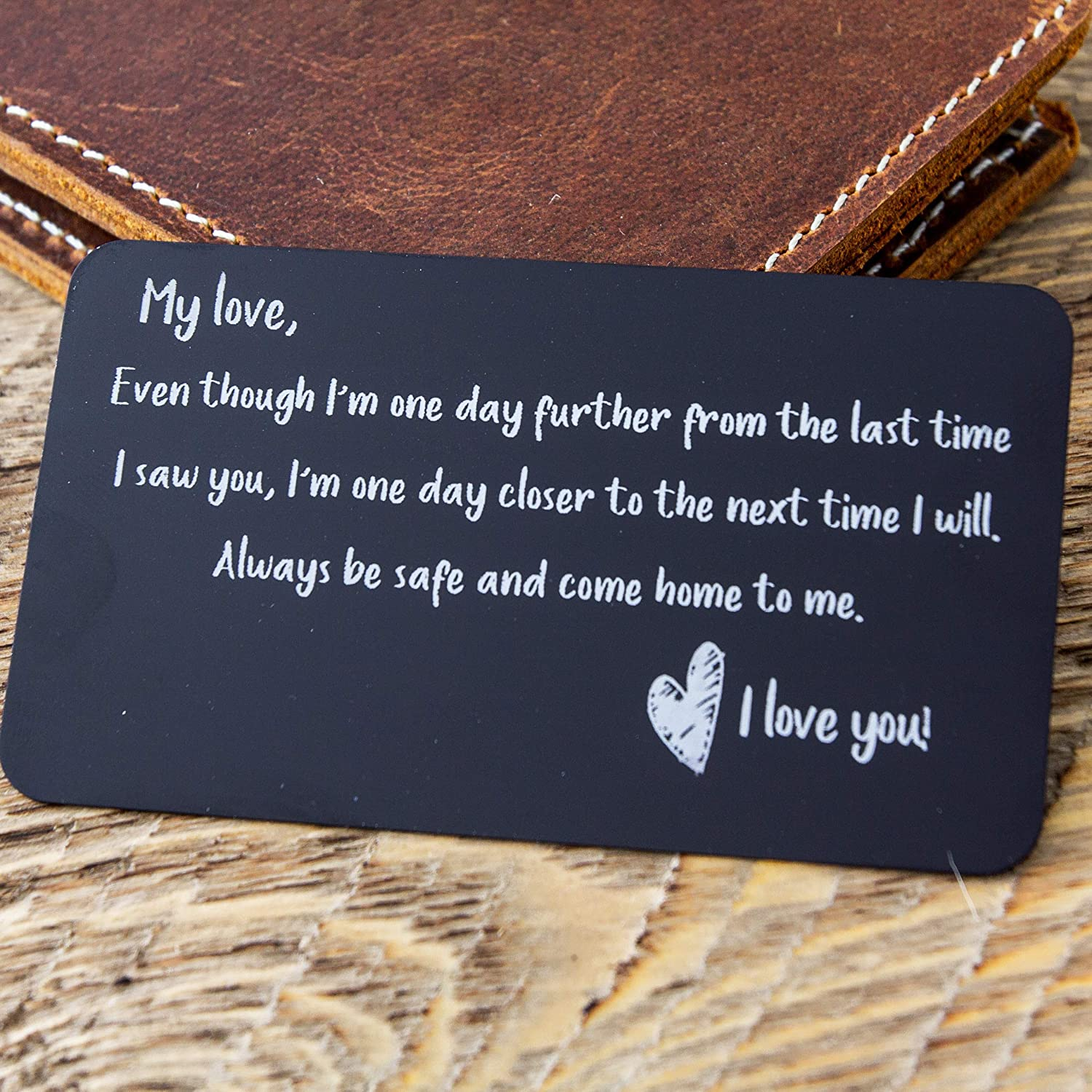 com engraved metal wallet card gift bag i miss you