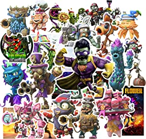 GTOTd Plants vs Zombies Stickers Garden Warfare Series [20 Pcs Large Size] Gifts Zombies Horror Stickers for Laptop Stickers Motorcycle Bicycle Skateboard Luggage Decal Graffiti Patches Waterproof