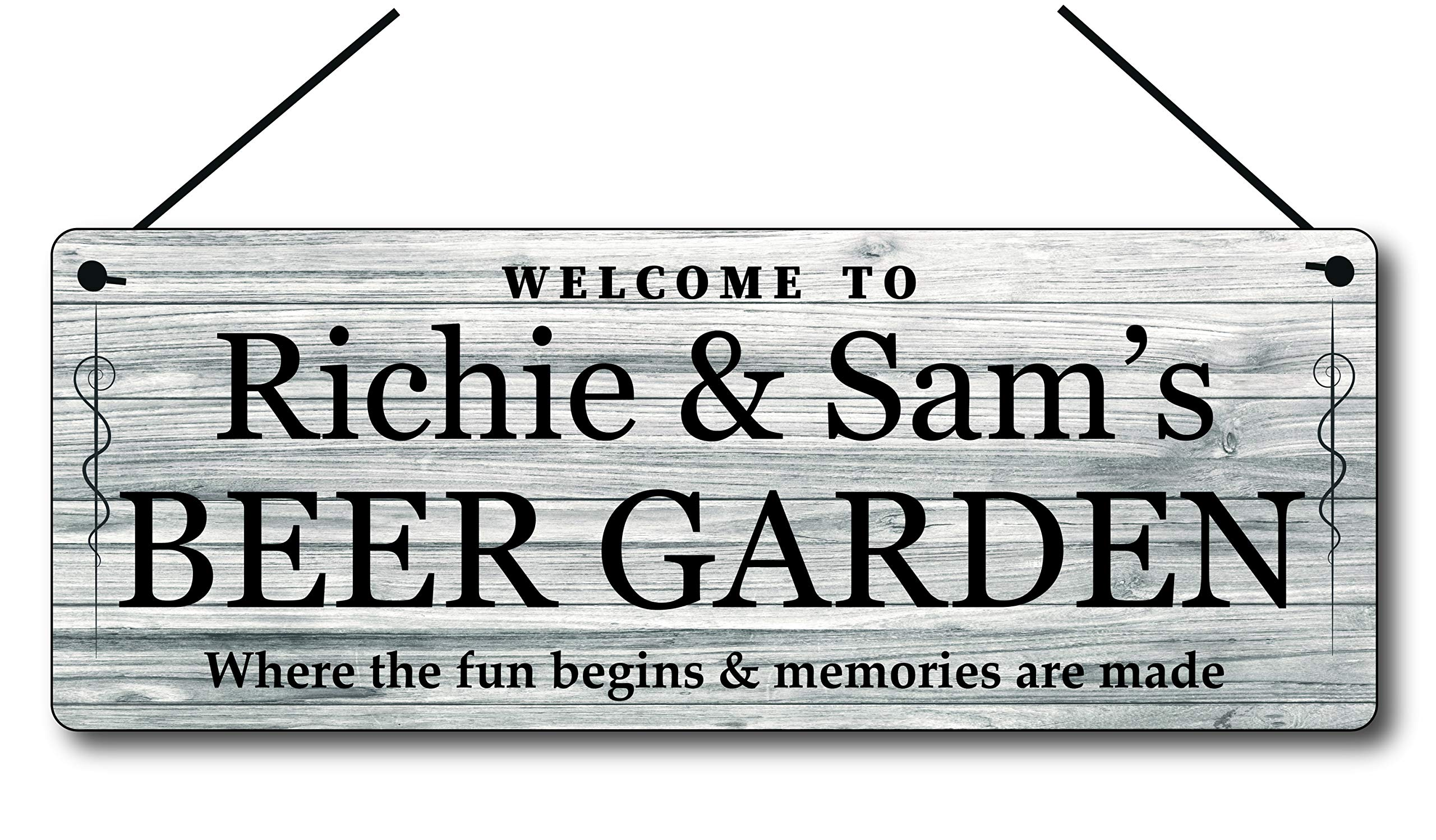 Personalised Gin Bar Sign Novelty Gift Metal Plaque