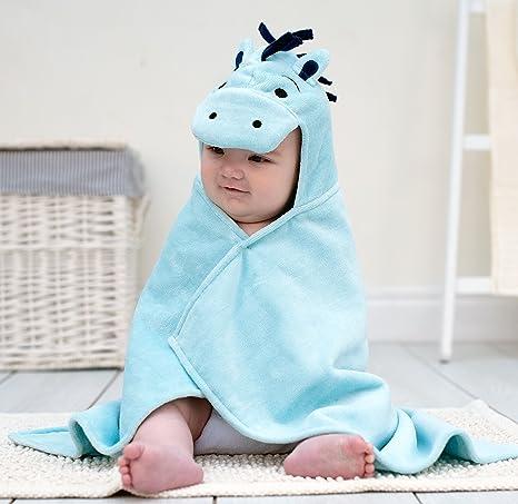 Baño Pony – toalla de bebé, diseño de conejos, color azul