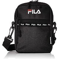 [フィラ] ショルダーバッグ メンズ レディース 斜めがけ カジュアル 肩掛け 2WAY 軽量 ポリエステル ミニ サコッシュ メッシュポケット 黒 ブラック F