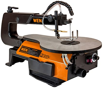 WEN 3920 16-inch Variable Speed Scroll Saw With Flexible LED Light