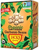 Jack's Organic Garbanzo Beans – Packed with Protein & Fiber, Heart Healthy, Low Sodium, Non GMO, BPA Free, Ready-to-eat…