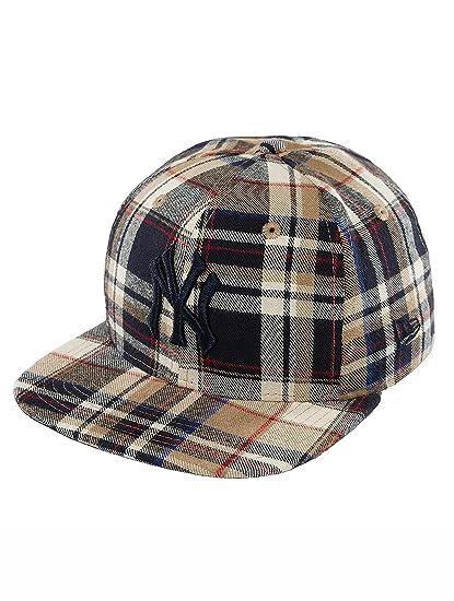 ae322bf872b New Era Men Caps Snapback Cap Spring Plaid NY Yankees 9Fifty Brown - 437330  S