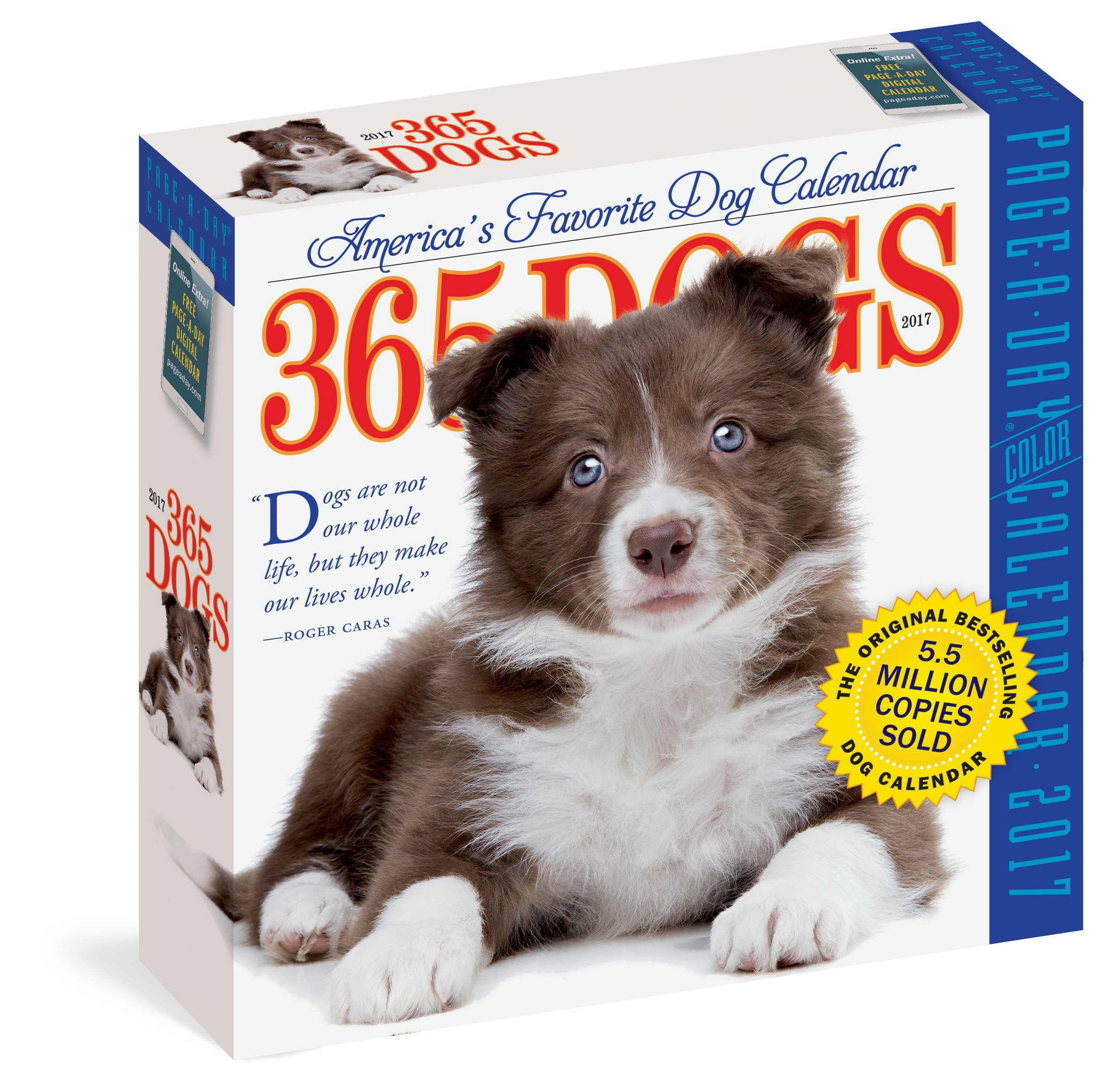 365 Dogs Page A Day Calendar 2017 Workman Publishing 9780761188124