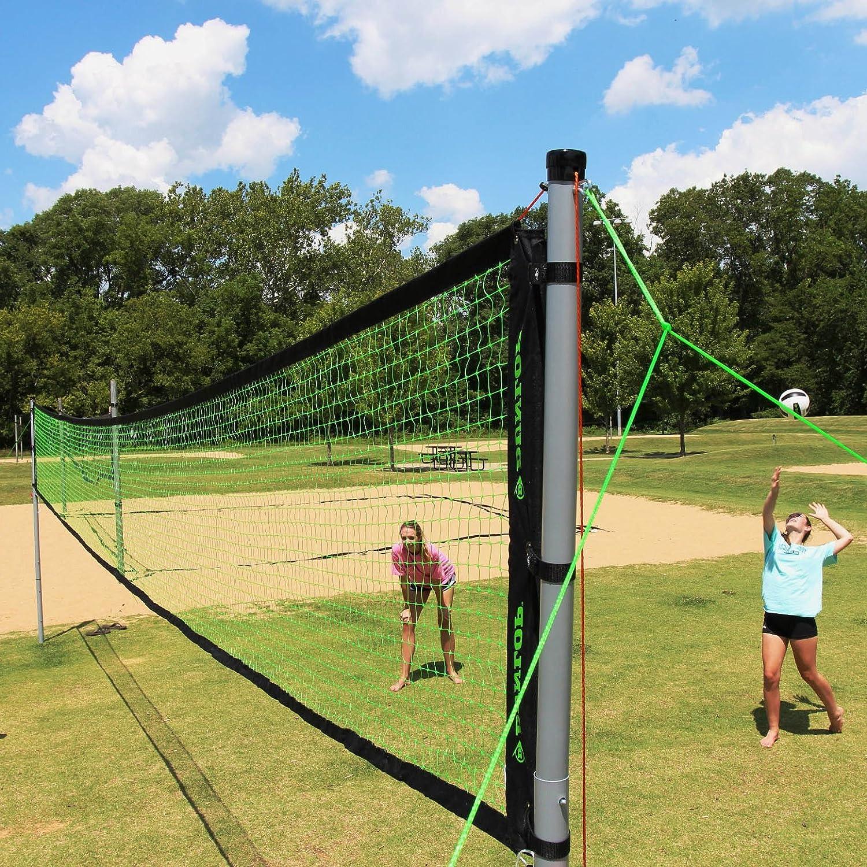 バレーボールバドミントンセットNetポータブル調節可能な極4 rackets Kids Family Funスポーツビーチ公園裏庭アウトドア