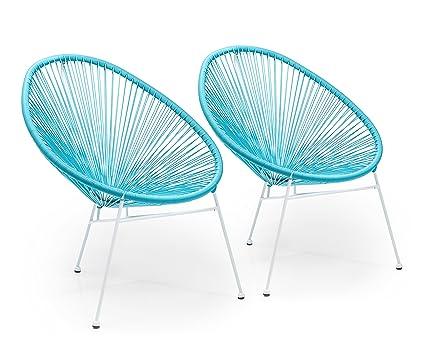 Innen Und Im Kare OutdoorbereichHellblauhbt88x73x79 Lounge Sessel 2er Den Set42739Moderner 5cm Spaghetti Für Design Stuhl Retro R354LqAj