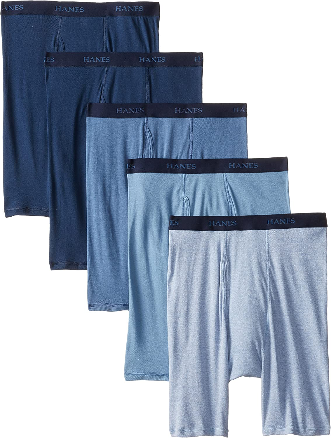 Hanes Mens 4-Pack Ultimate Stretch Long Leg Boxer Brief