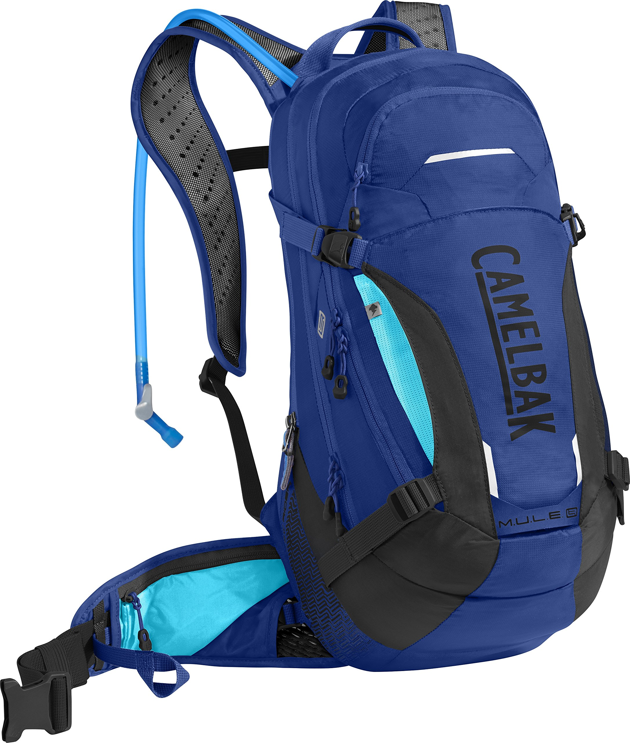 CamelBak M.U.L.E. LR 15 100 oz Hydration Pack, Marine Blue/Lake Blue