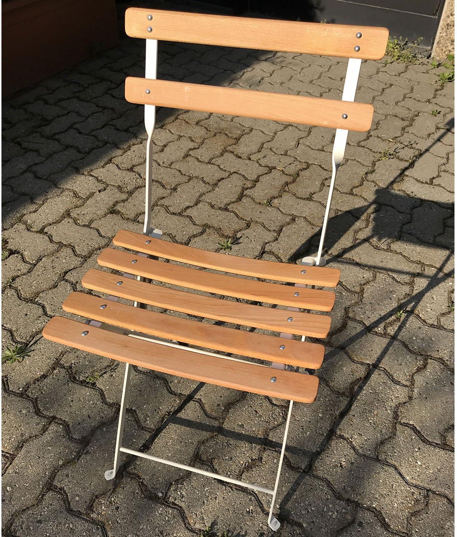EMU Silla Club Blanco (Acero y Haya para Muebles Exterior jardín Bar: Amazon.es: Hogar