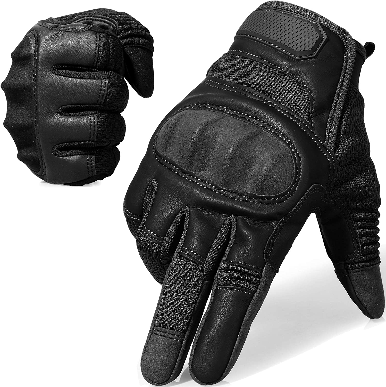 AXBXCX Touch Screen Full Finger Gloves for Motorcycles Cycling Motorbike ATV Bike Camping Climbing Hiking Work Outdoor Sports Men Women Black S