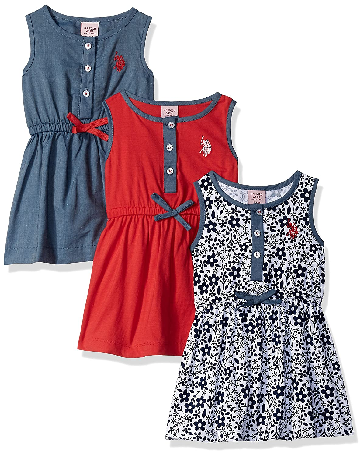 U.S. Polo Assn. Baby Girls Multi Pack Dress