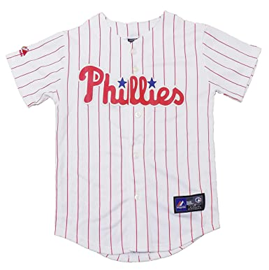 the best attitude ec742 59ec4 Outerstuff Philadelphia Phillies White Blank Youth Authentic Home Jersey