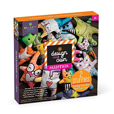 Craft-tastic Design-Your-Own Stuffies - Decorate and Stuff 2 Pre-Sewn Creatures: Toys & Games