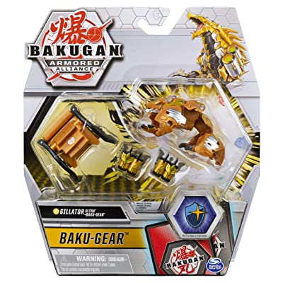Bakugan Ultra, Aurelus Gillator with Transforming Baku-Gear, Armored Alliance 3-inch Tall Collectible Action Figure…: Toys & Games