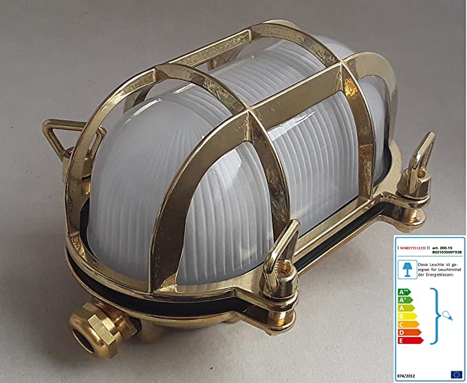 Plafoniere Per Navi : Lampada plafoniere ottone anticato vetro vintage anni