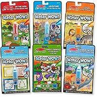 Melissa & Doug 93862 On the Go Water Wow! Activity Pad 6-Pack, Farm, Safari, Adventure, Colors & Shapes, Wacky Animals…