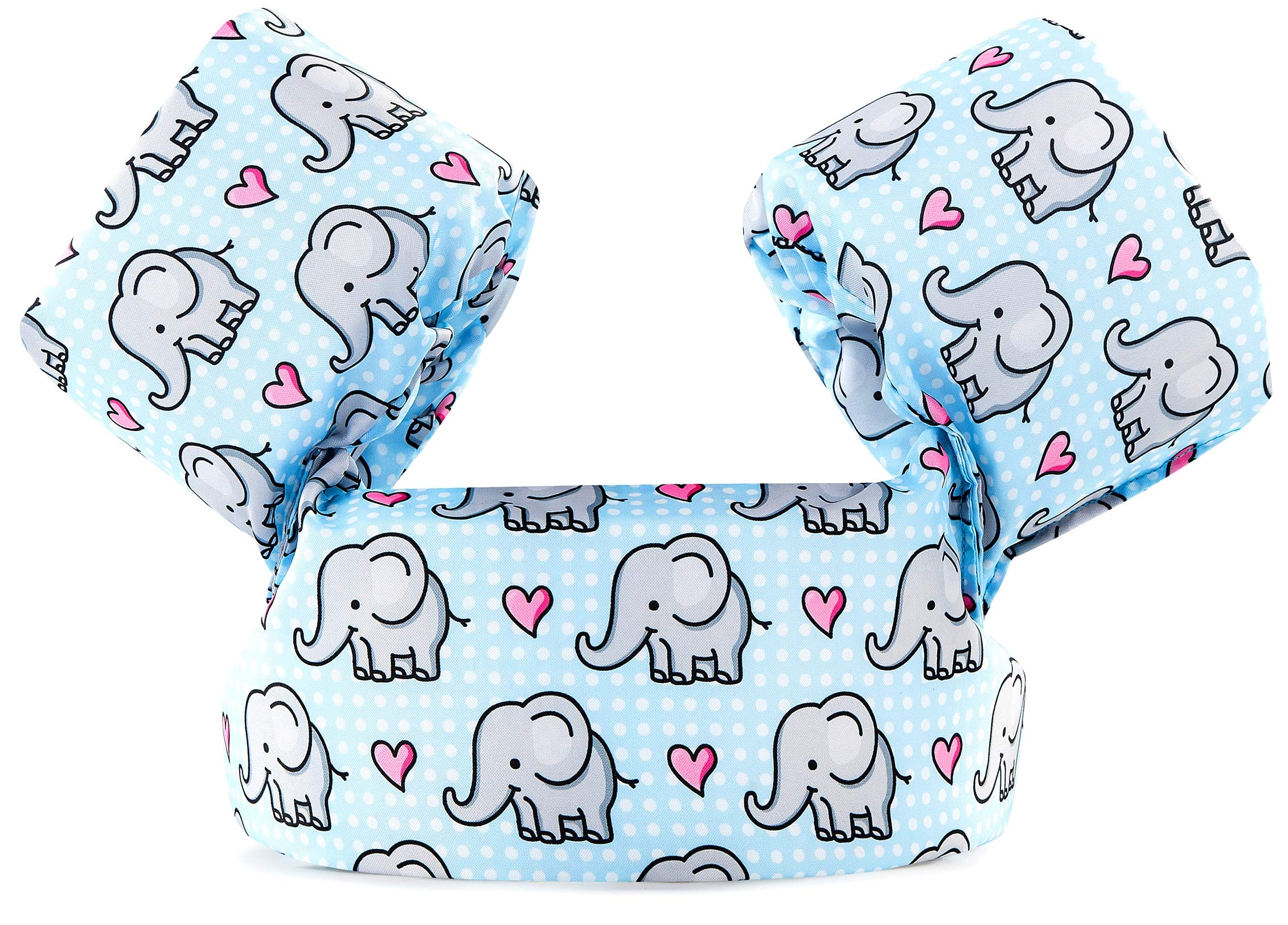 Siran Life Jacket Swim Floaties Kids Swimming Pool Toys Float Vest for Baby/Infant/Toddler 30-50lbs Kids Outdoor Recreation Sweet Heart Elephant