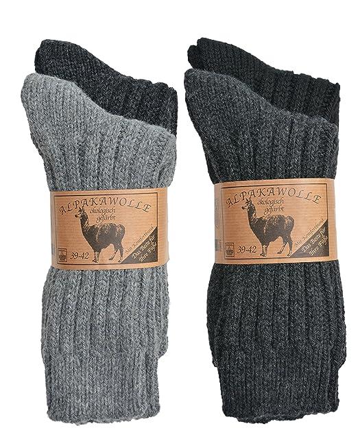spedizione gratuita scarpe da skate prevalente 4 paia di calzini di lana di alpaca da uomo e da donna, con comodo  elastico, spesse e calde, realizzate in Europa
