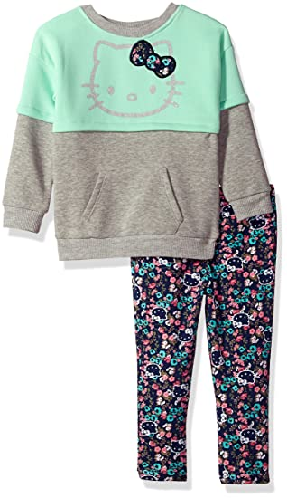 473a0cc3482d3 Hello Kitty Baby Girls' 2 Piece Long Sleeve and Legging Set, Mint Green, 24M