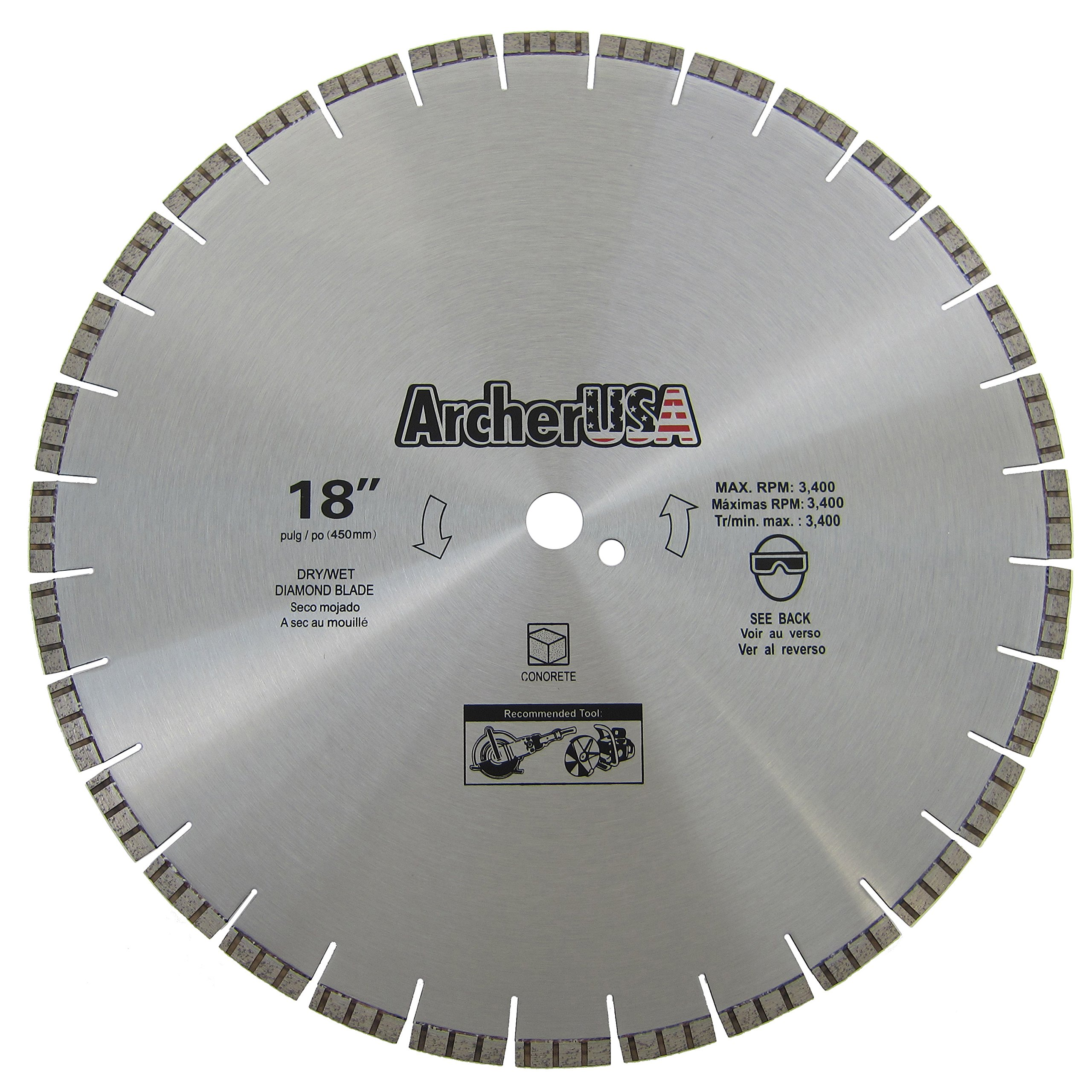 Concrete Cutting Diamond Saw Blade 18 in. by Archer USA