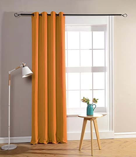 Blackout Curtains 140cm X 260cm Orange Rideaux Occultant Orange