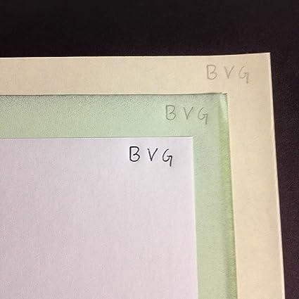 1000 X 3 hojas A6 papel química CB Blanco/CFB Verde/CF Amarillo ...