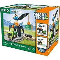 BRIO 33962 BRIO Smart Tech - Smart Tower Container Crane Train Set