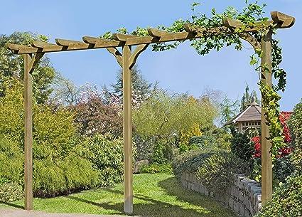 Pérgola de madera Archway Trellis de aprox. 450 cm de largo con postes de 9 x 9 cm, de Gartenpirat®: Amazon.es: Jardín