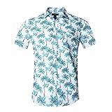 NUTEXROL Hawaiian Shirts Mens Bamboo Print Beach