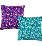 Casa Copenhagen - Casa Basics Set Of 2 Digital Premium Cushion Cover 16 X 16 Inch - Purple & Green