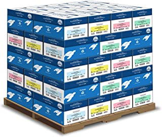 product image for Hammermill Assorted Colored Paper, 20 lb Printer Paper, 8.5 x 11-1 Pallet, 40 Cases (200,000 Sheets) - Made in the USA, Pastel Paper