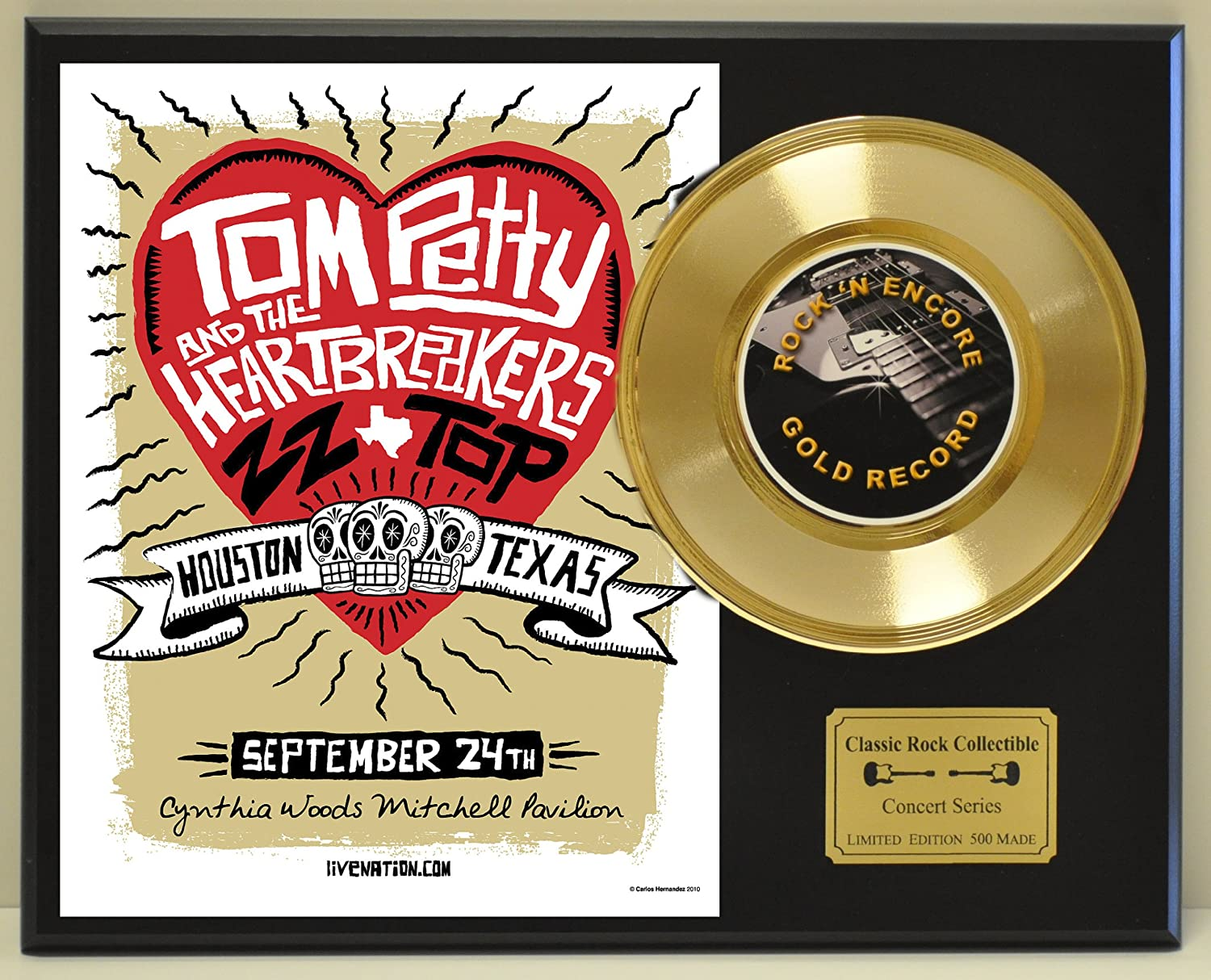 TOM PETTY Limited Edition Gold 45 Record Display. Only 500 made. Limited quanities. FREE US SHIPPING by Classic Rock Collectibles