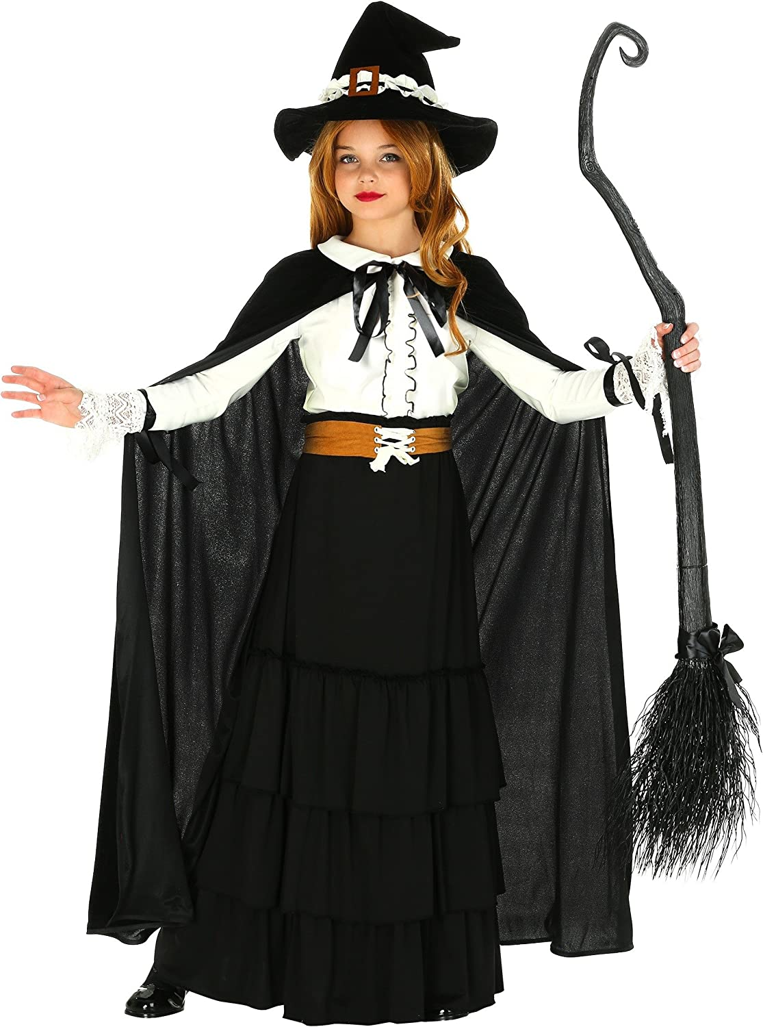 Amazon Com Kid S Salem Witch Costume Colonial Witch Costume For Girls Clothing