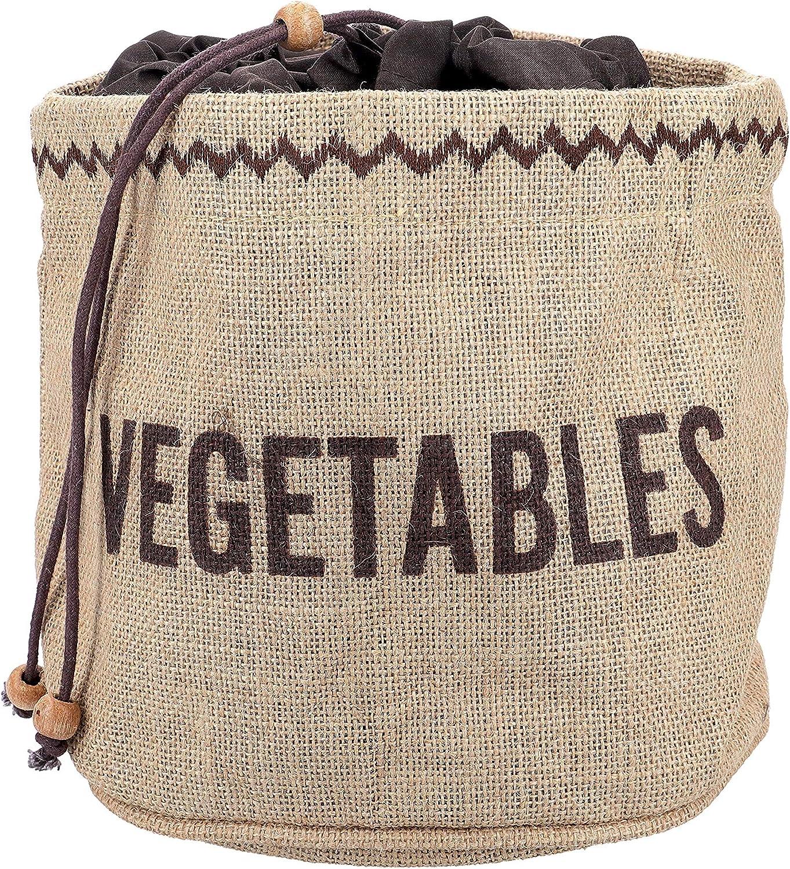 Kitchencraft Bolsa con Forro para Conservar Patatas 26.8x33x2 cm Tela Beige