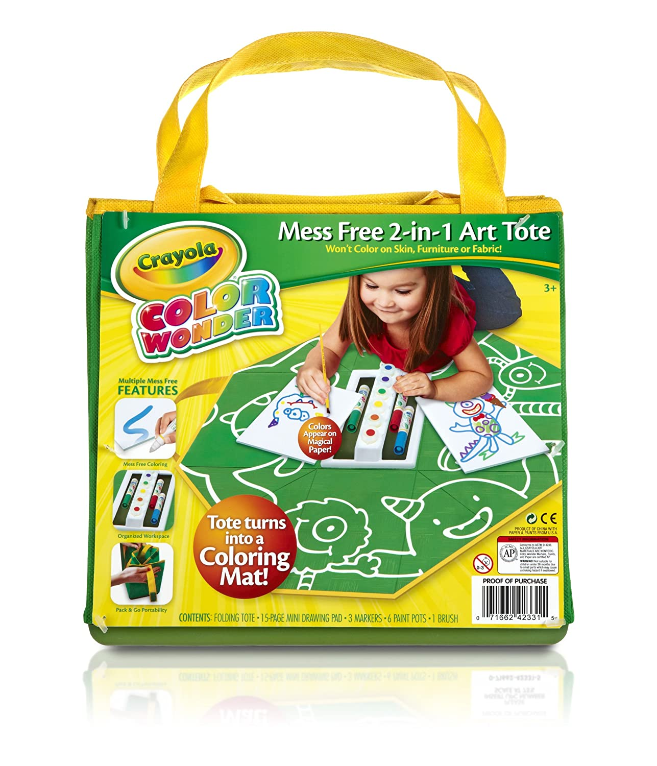 Crayola Color Wonder Mess Free 2-in-1 Art Tote: Amazon.co.uk: Toys ...