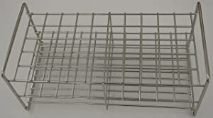 Stainless Steel Wire Wireframe Test Tube Rack, 50 Tubes (27 mm)