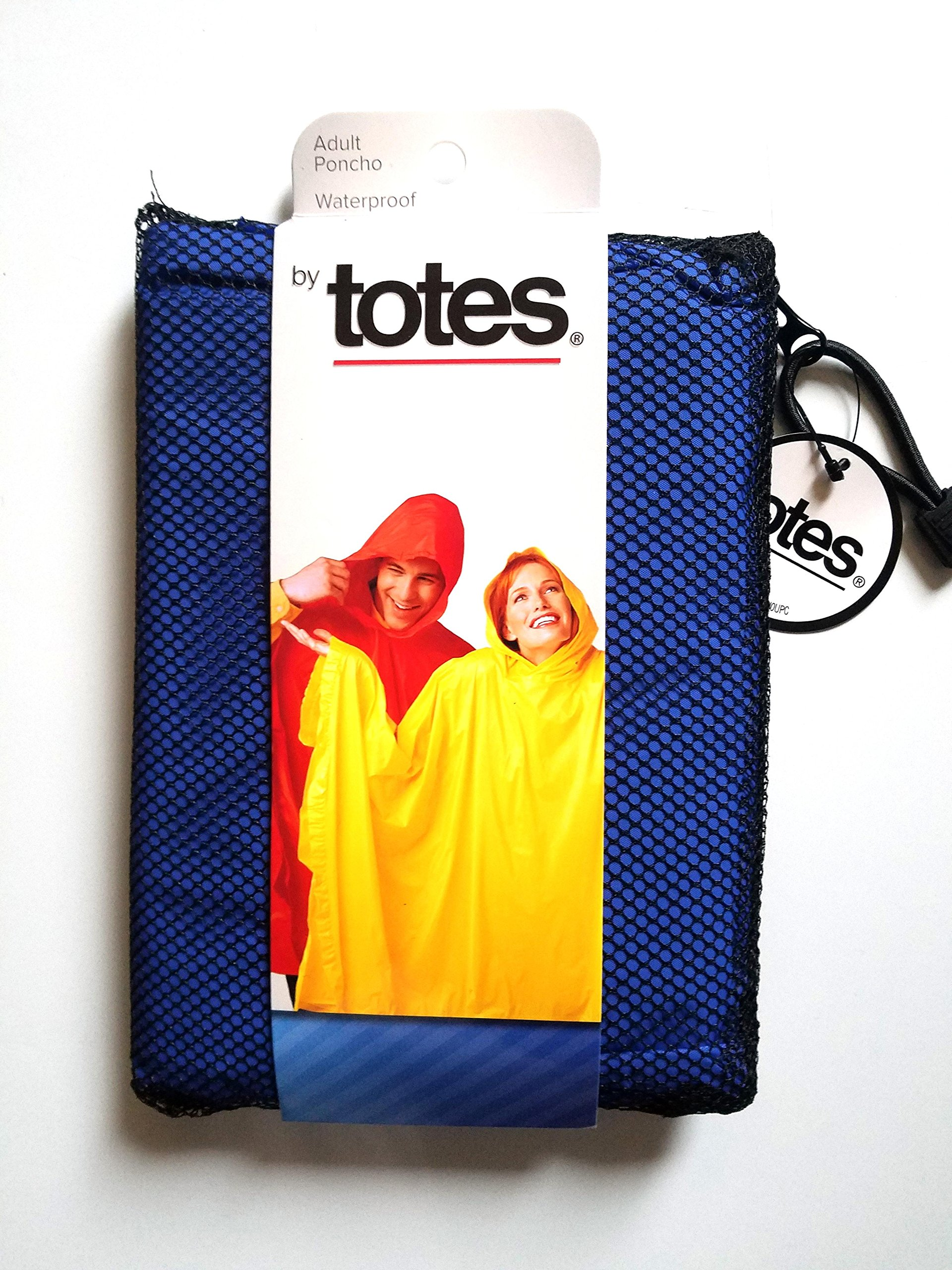 totes ISOTONER Unisex Hooded Pullover Rain Poncho with Side Snaps, Royal Blue, One Size by totes