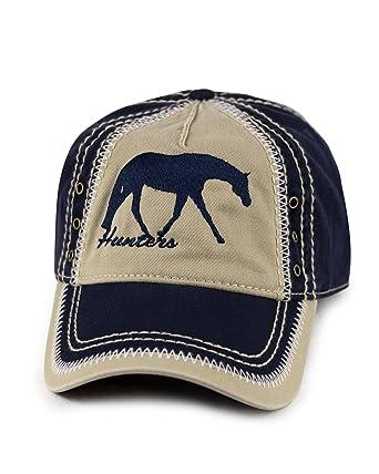 2f9f3d3d KO Hats Embroidered Hunt Seat Horse On Navy/Khaki Baseball Cap/Hat ...