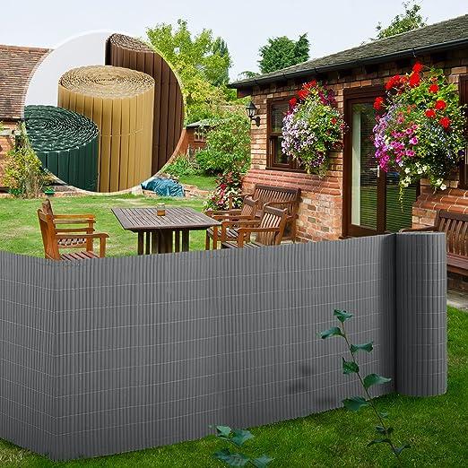 garden screen. Casa Pura PVC Garden Screen, Grey - 100 X 300 Cm | 7 Sizes Available Protective Screening Fence: Amazon.co.uk: \u0026 Outdoors Screen R