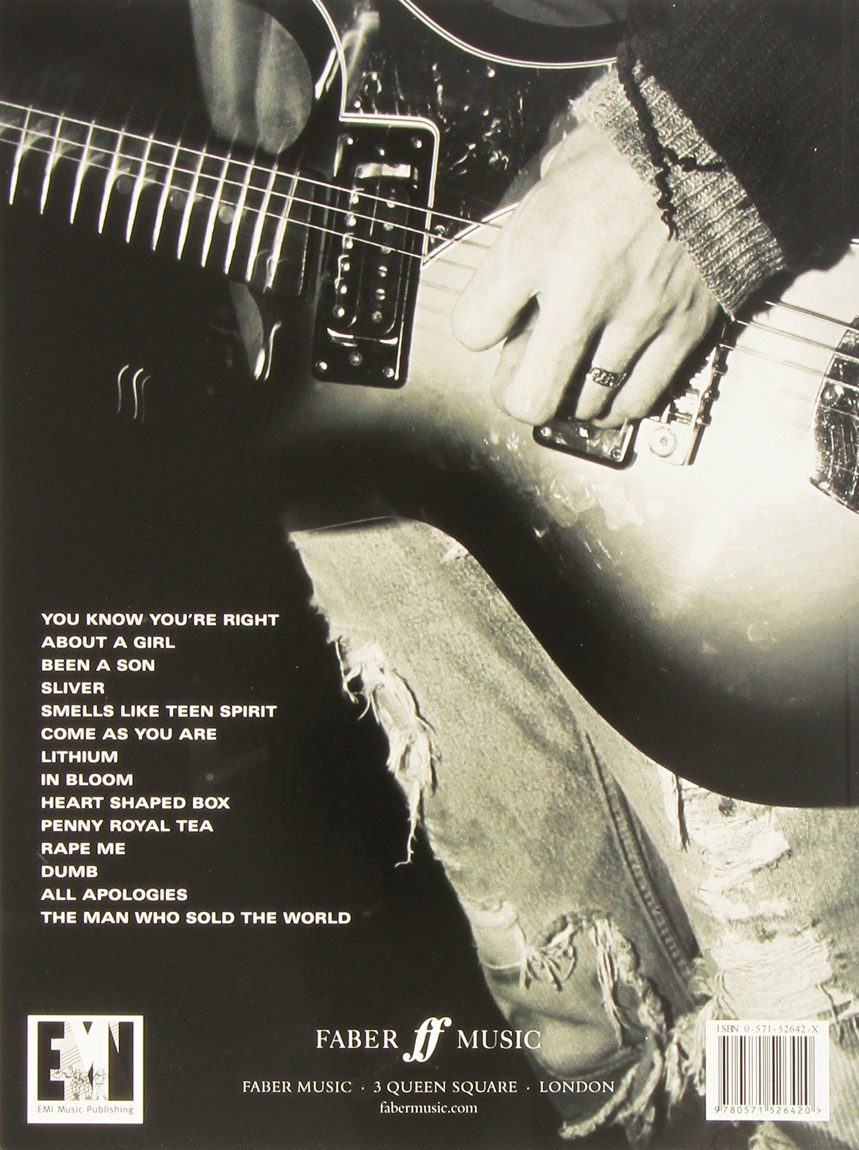 Amazon Nirvana Greatest Hits Guitar Tab 9780571526420